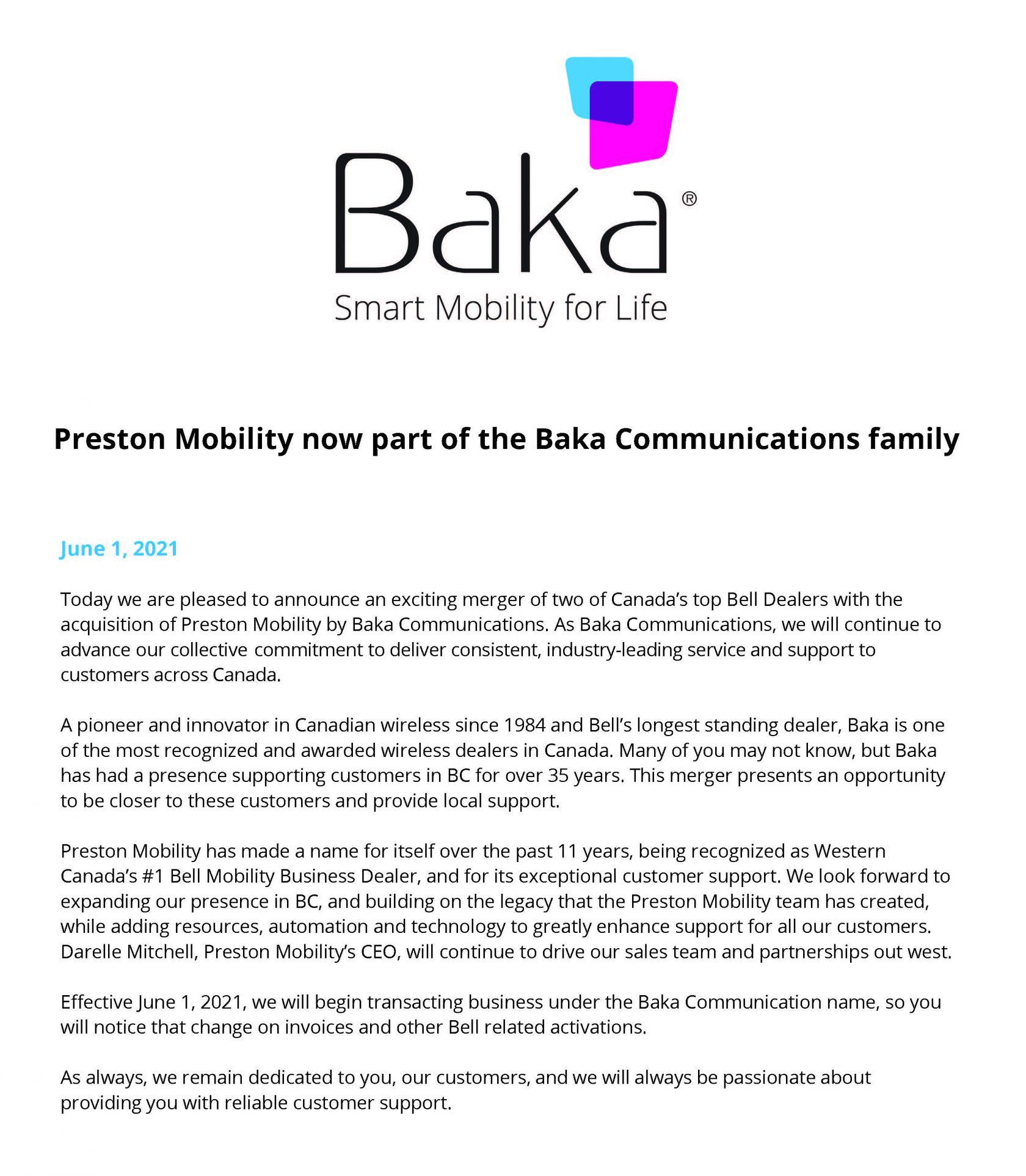Preston_now_part_of_Baka_Communications_ family Announcement_June 1 2021 – BP2_Page_1